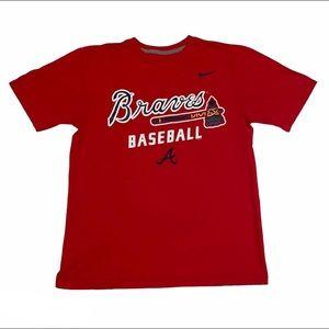 NIKE | Red Atlanta Braves Baseball Graphic Shirt